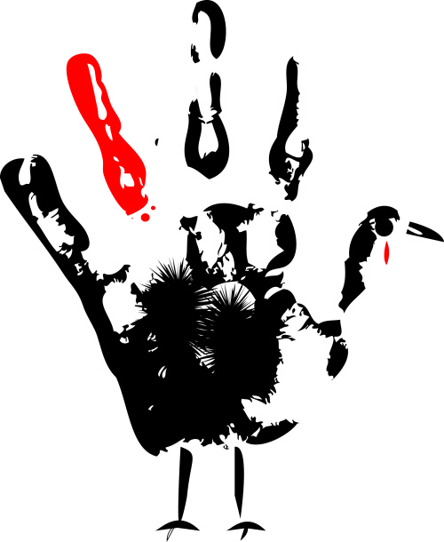 Thanksgiving turkey handprint. (Illustrator/Anibal Santos)