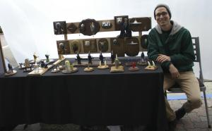 GP Mauro's first time selling at the San Clemente Village Art Fair. (Photo by Niko LaBarbera)