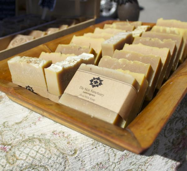 The Skin Sanctuaries lemongrass soap made from raw goats milk and essential oils. (Photo by Niko LaBarbera)