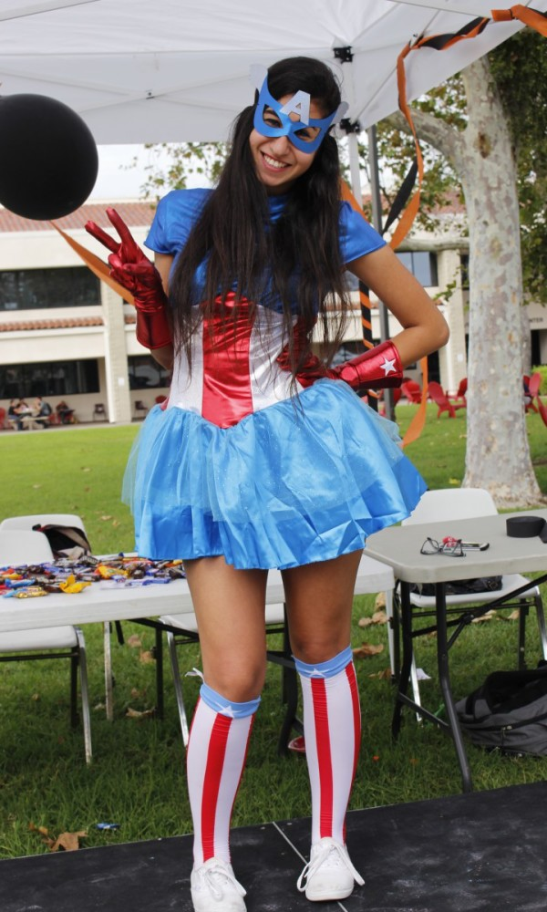 Captain America is Natalie Chehayeb, 19, cell and molecular bio.