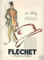 Chapeau Parfait FLECHET signée Facon Marret 1950