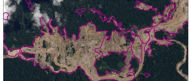 Deforestación en río Malinowski, Madre de Dios. Imagen: ACCA