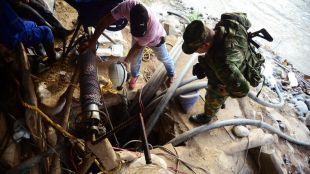 Mineros atrapados en Colombia. Foto: nacion.com