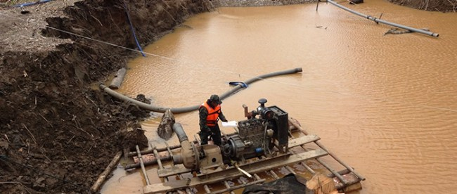 Minería ilegal Colombia