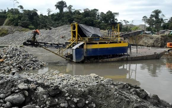 Minería ilegal Colombia. Foto Colprensa