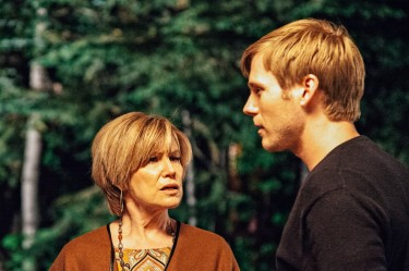 Jeannie (Mary Kay Place) and Theo (Zachary Booth) in LAST WEEKEND.