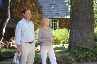 Malcolm Green (Chris Mulkey) and Celia Green (Patricia Clarkson) saying farewell to their children and their friends in LAST WEEKEND.