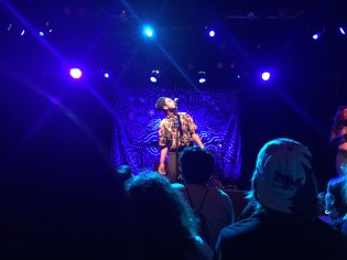 "Shamir opens with first track ""Vegas""."