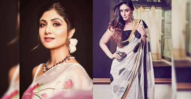 5 printed saris you can wear this summer feat. Shilpa Shetty and Kareena Kapoor Khan