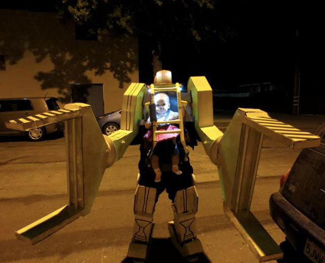 Aliens Power Loader Baby Costume - Halloween 2012
