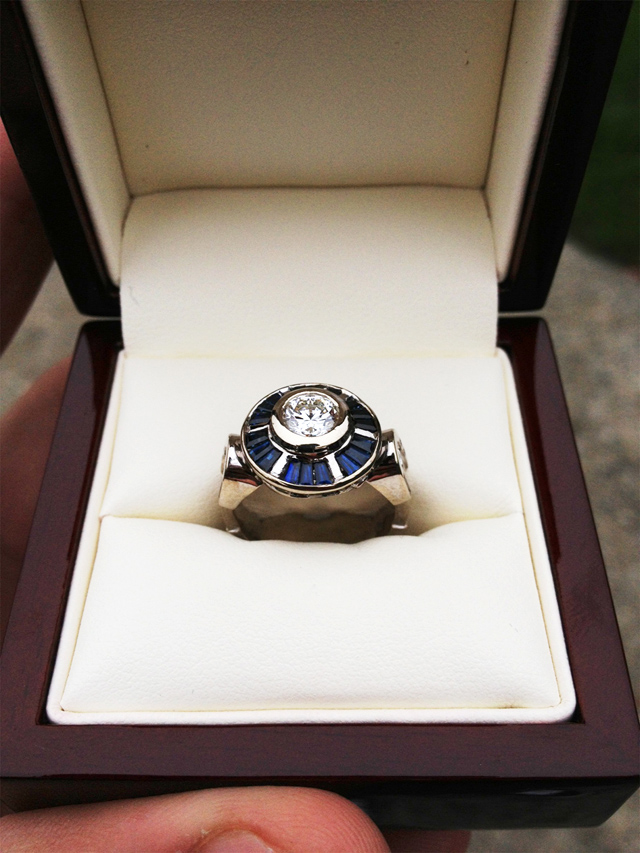 Star Wars Custom R2-D2 Engagement Ring & Marriage Proposal