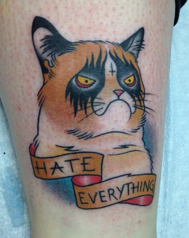 Grumpy Cat Tattoo