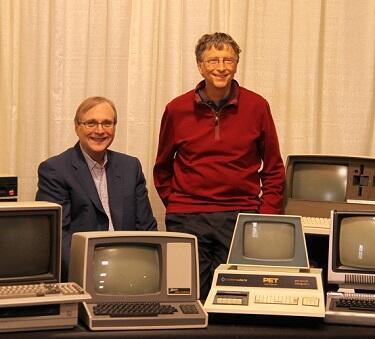 Bill Gates and Paul Allen Recreate 1981 Microsoft Publicity Photo