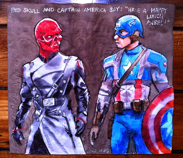 Red Skull and Captain America