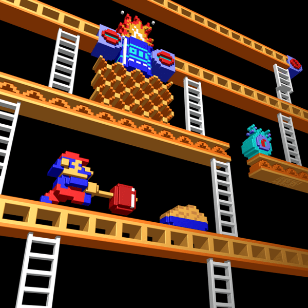Inside Donkey Kong Stage 2 by Metin Seven