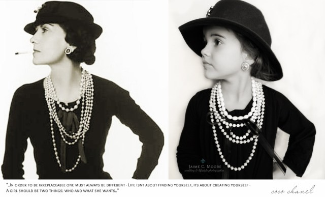 Girl dressed as famous women from history