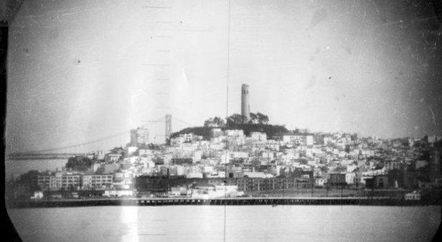 Photos of San Francisco taken by US Navy sub 1951