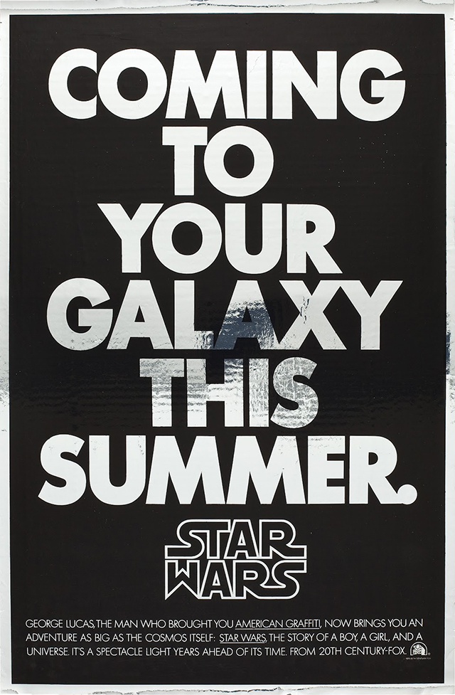 1977 Star Wars Film Poster Suzy Rice
