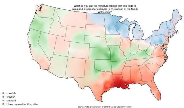 Maps of regional dialect variation in the US