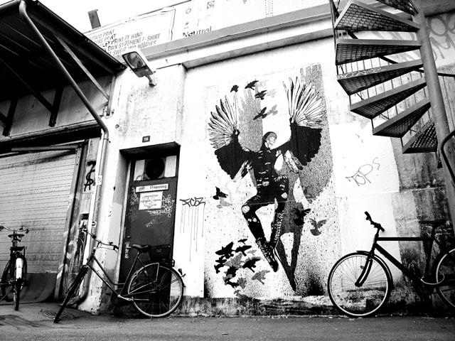 Denmark street art by WK