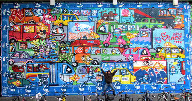 Characters in Street Art by Pez and Zosen
