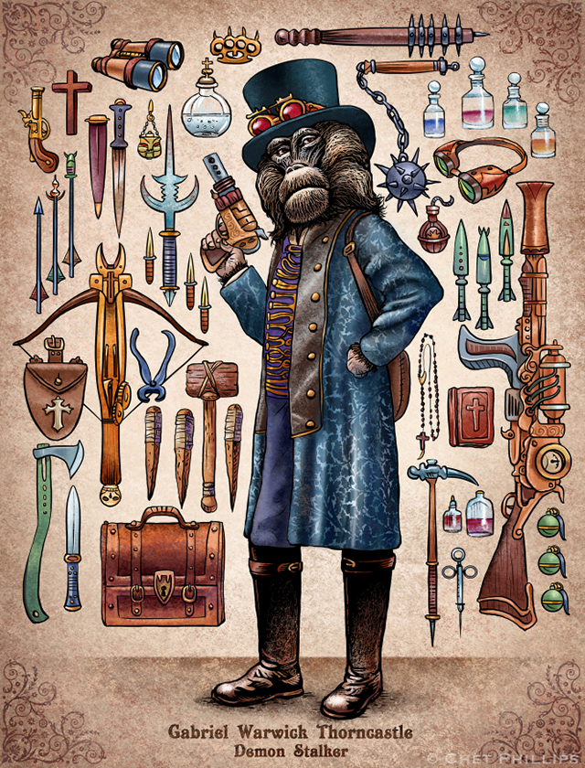 Thorncastle - Steampunk Monkey Nation and Gear