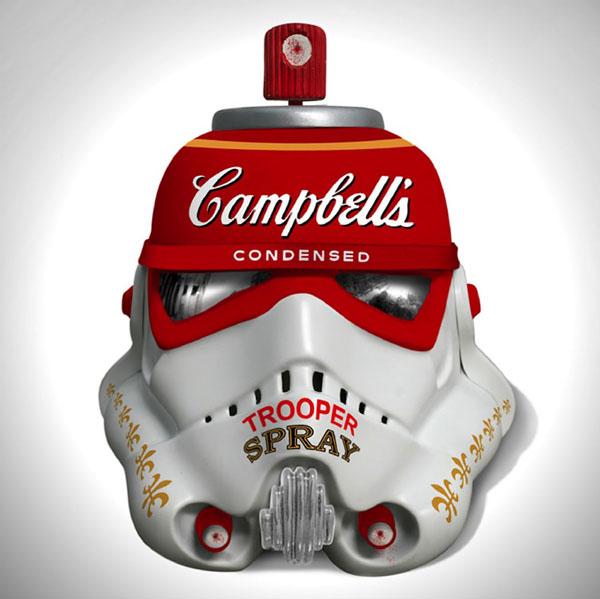 Campbell's Condensed Trooper Spray by Mr. Brainwash