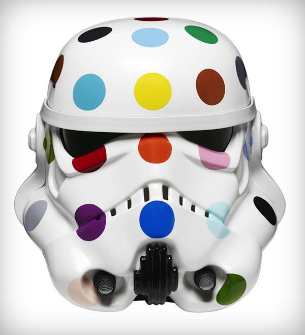 Spot Painted Art Wars Stormtrooper Helmet by Damien Hirst
