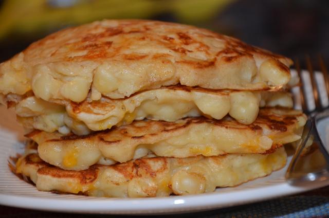 Mac and cheese flapjacks