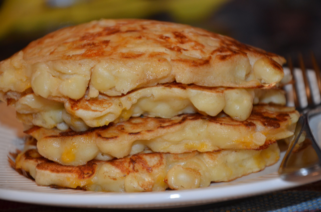 Mac and cheese flapjacks
