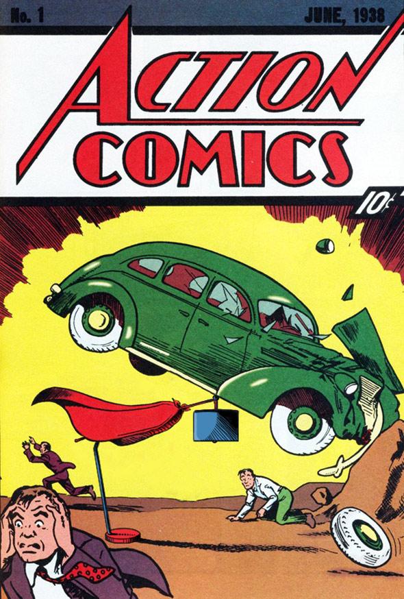 Superman Action Comics Lamp
