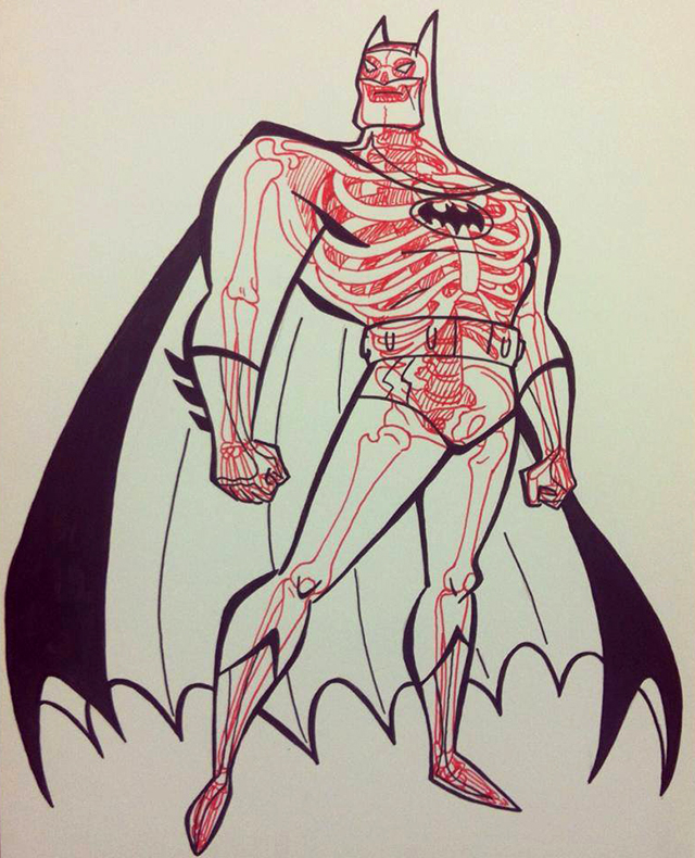 The Batman by Bruce Timm X-ray