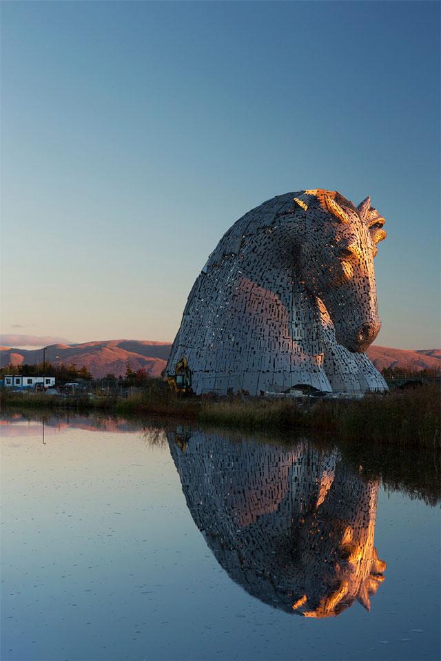 The Kelpies giant horse sculptures