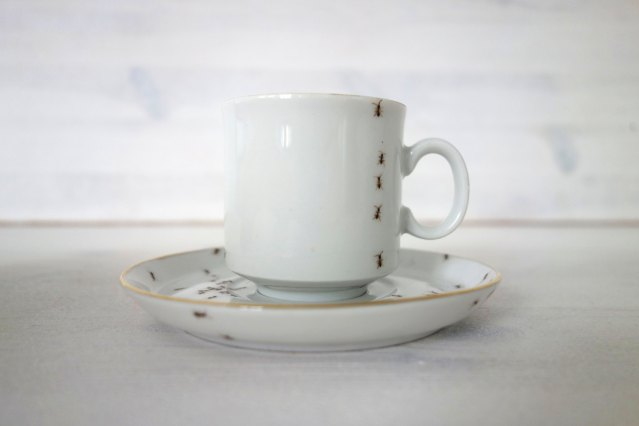 Ants Cup and Saucer
