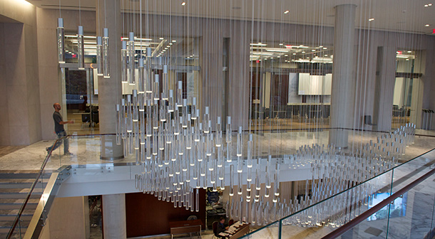 Global Data Map Chandelier
