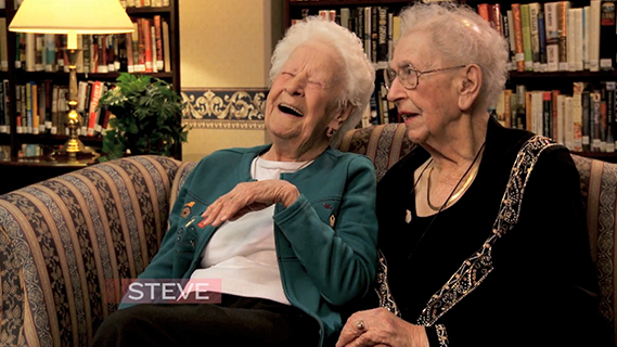 100 Year Old BFF's on Steve Harvey Show