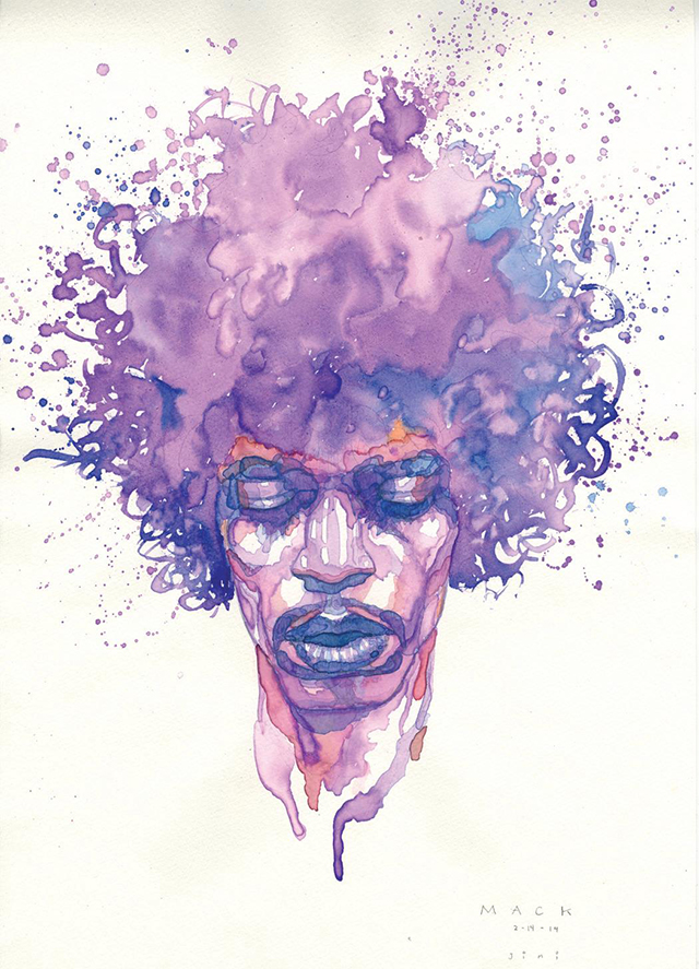 Jimi Hendrix by David Mack