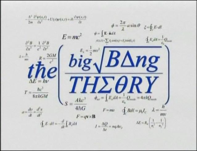 Big Bang Theory Pilot Opening Credit