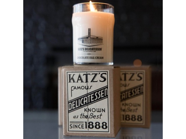 Chocolate Egg Cream Candle by Katz's NYC