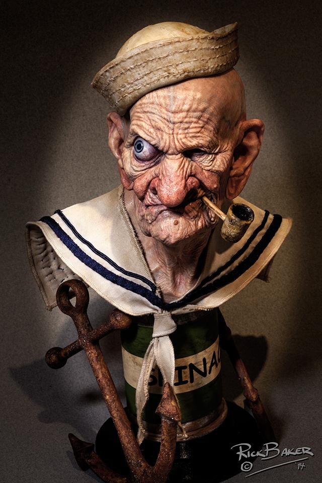 3D printed Popeye by Rick Baker