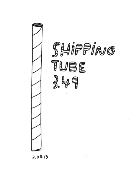 Daily Purchase Drawings Shipping Tube