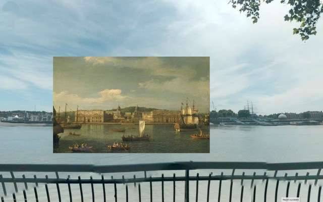 Old Paintings of London Superimposed in Photographs