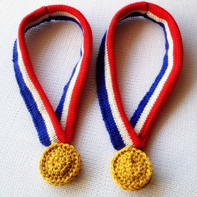 Crocheted Gold Medals