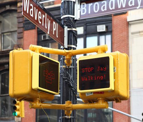 Pop Pop Interactive Pedestrian Signal