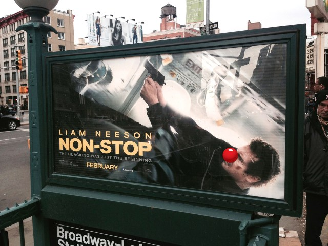 Clownifying Ads in New York City