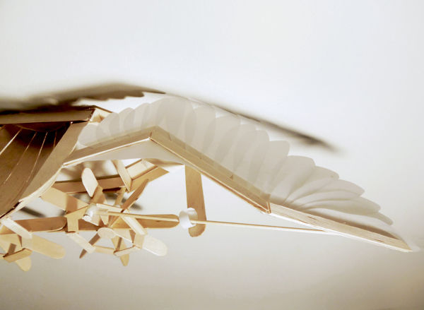 Flapping Bird Kinetic Sculpture by Joyce Lin