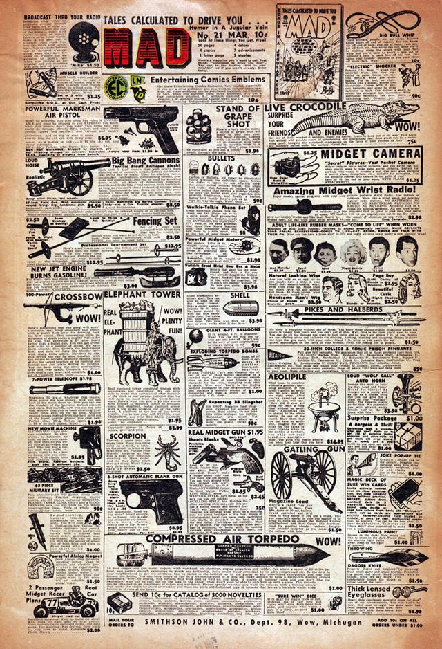 MAD #21: Cover by Harvey Kurtzman (1955)