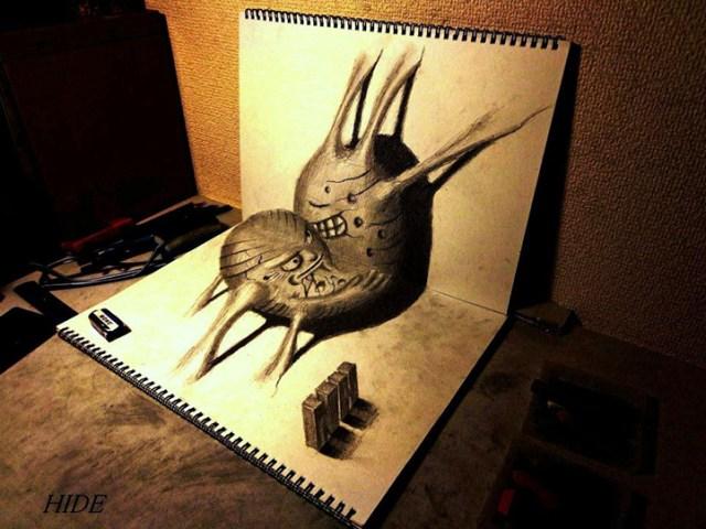 Remarkable 3D Illusion Drawings by Nagai Hideyuki