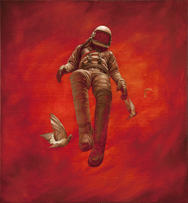 The Red Cosmonaut by Jeremy Geddes