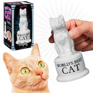 Worlds Best Cat Trophy Tabby